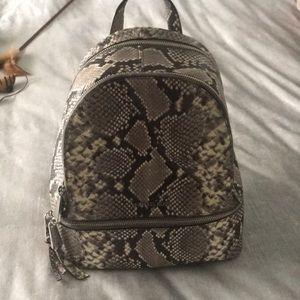 Michael Kors snakeskin backpack